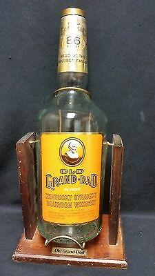 Vintage Old Grand Dad 86 Proof Gallon Whiskey Bottle In Tilting Pouring Stand