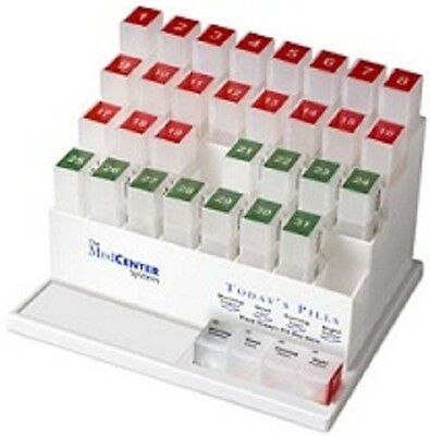 NEW MedCenter 31 Day Pill Organizer Pill Reminder System