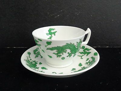 Hammersley England Green Dragon Bone China Footed Cup and Saucer Neiman Marcus