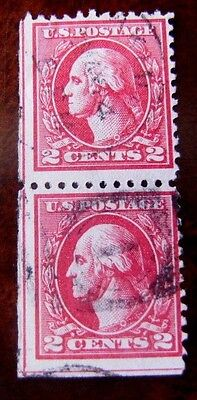 Corner Guideline Pair Washington 2 Cent Untyped Early US Stamps 6230