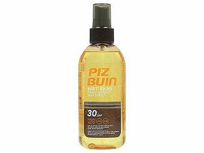 Piz Buin Wet Skin Transparent Sun Sunscreen Spray 30 SPF High150ml
