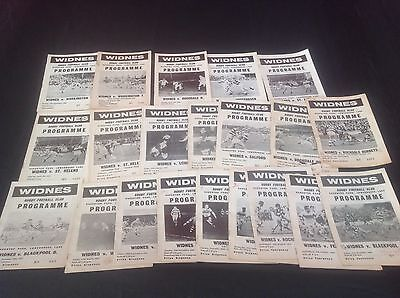 Widnes Programmes From 1965-1969 21 Programmes