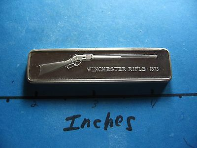 Winchester Rifle 1873 Gun Lincoln Mint Silver Bar Very Rare Cool Item #c
