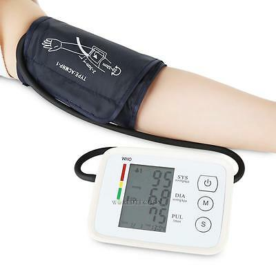 Automatic Digital LCD Upper Arm Blood Pressure Moniting Monitor USB Rechargable