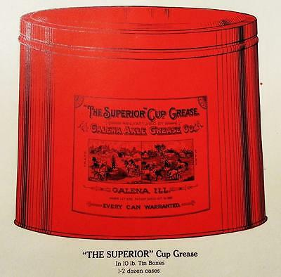 """""""The Superior"""" Cup Grease Can Galena Il. Unused Early 1900's Catalog Page"""