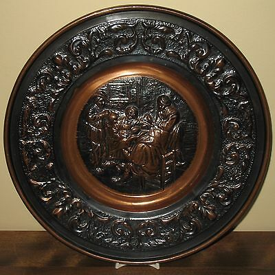 """Vintage Copper Plantation Wall Plaque Chimney Flue Cover Made in Holland 11"""""""