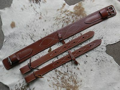 "3"" Wide Soft Oiled Rear Girth or Flank Cinch With Billets New Horse Tack US Made"