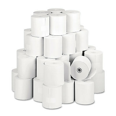 """Single Ply Thermal Cash Register/pos Rolls, 3 1/8"""" X 273 Ft., White, 50/ct-PMC05"""