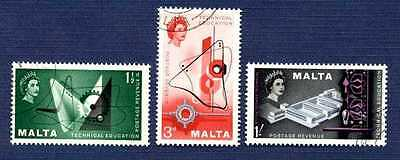 MALTA #266/268-TECHNICAL EDUCATION SYMBOLS-Set of 3-USED