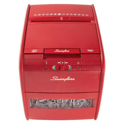 Swingline Auto Feed Paper Shredder 60 Sheets Cross Cut Stack Shred 60X - RED
