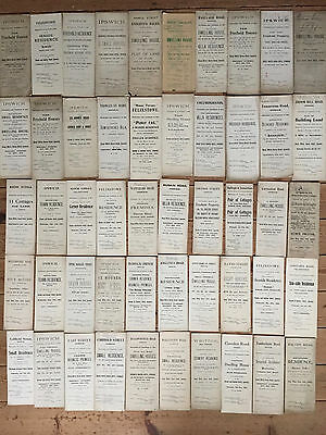 50 x Suffolk and Norfolk Land Auction Documents from 1897 -1936