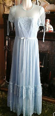 Vintage Pronuptia De Paris  baby blue bridesmaid dress  8-10 beautiful ex con