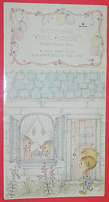 Vintage Betsey Clark Hallmark Doll House Party Favor Paper Dolls 1970s Unpunched