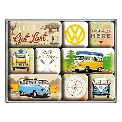Volkswagen VW Lets Get Lost set of 9 mini fridge magnets    (na)
