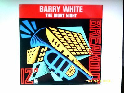 """Barry White The Right Night 12"""" Single 1987 N/mint"""