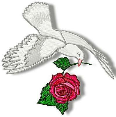 Doves And Roses 10 Machine Embroidery Designs Cd 4 Sizes Included