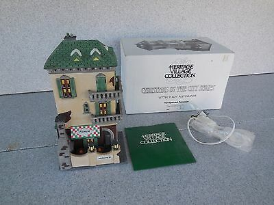 Nice Dept 56 Heritage Village Christmas In The City Little Italy Ristorante