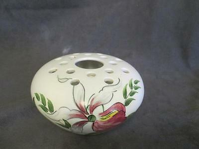 C7 Wood & Sons Handpainted Lady Slipper Orchid Staffordshire Flower Frog Vase