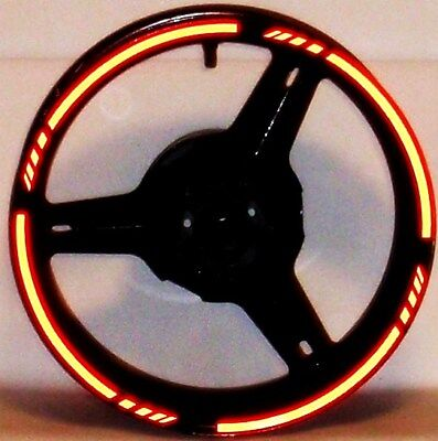 MOTORCYCLE or CAR REFLECTIVE 3M RIM STRIPES WHEEL DECALS TAPE STICKERS VINYL KIT