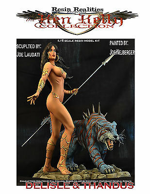 Delisle and Thandus resin model kit Ken Kelly collection 1/6 scale spike tiger