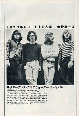 Creedence Clearwater Revival John Fogerty Ccr 1970 Clipping Japan Magazine U1 D7