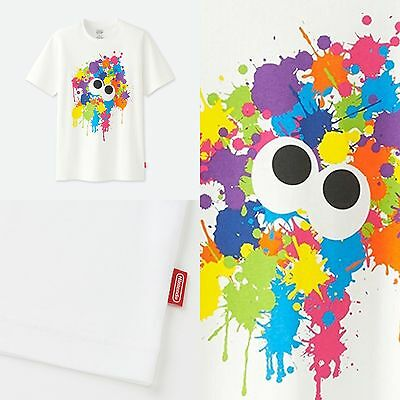 Authentic Japan UNIQLO 2017 Nintendo Tee - SPLATOON!!! Splatter Squid