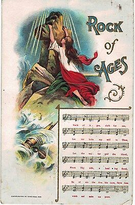 Religious Song Sheet Music Rock of Ages 1912