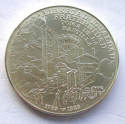 1989 Bastille Revolution 10 P Silver Coin,Proof