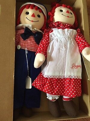Raggedy Ann And Andy Red Headed Dolls Japanese Market 18 In