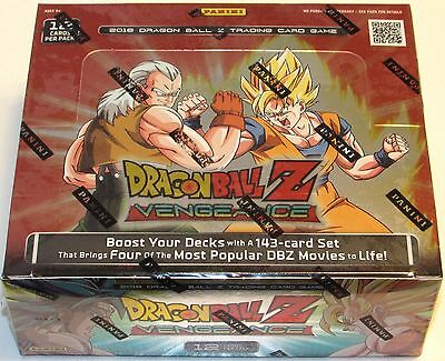 DRAGON BALL Z VENGEANCE BOOSTER BOX 24 packs 12 cards per pack NEW SEALED