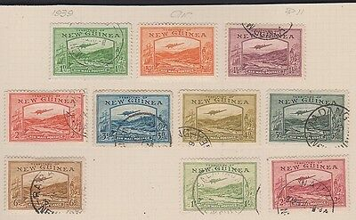 NEW GUINEA C46-53,55-6 Air Mails used to 2sh