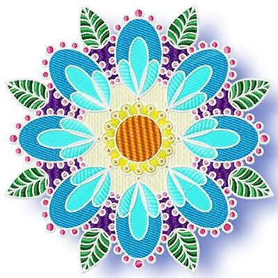 Leafy Circles 10 Machine Embroidery Designs Cd 3 Sizes Included