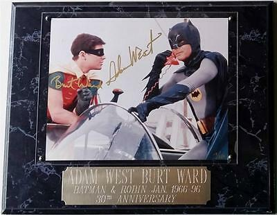 ADAM WEST BURT WARD Auto BATMAN & ROBIN Dual Signed 8x10 Photo /250 PSA/DNA COA