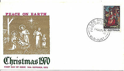 1970 Christmas  Australia FDC First Day of Issue