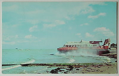 HOVERCRAFT, Southsea to Ryde - 1960's - Vintage postcard