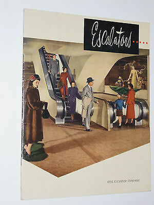 Vintage 1942 Otis Elevator Guide To Escalators! Pictures/specs/cross Sections!