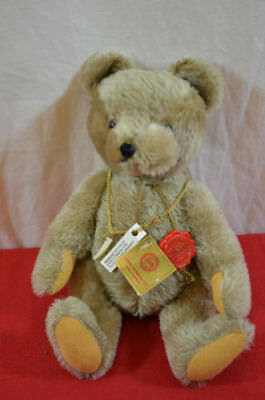 Hermann teddy bear with tags poseable jointed brown