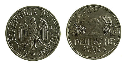 pcc1964_6) GERMANIA GERMANY FEDERAL REPUBLIC 2 MARK 1951 F