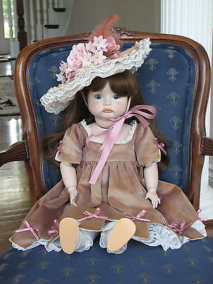 """SFBJ 252 Paris Reproduction Doll - Fully Jointed Bisque -Character Pouty - 23"""""""