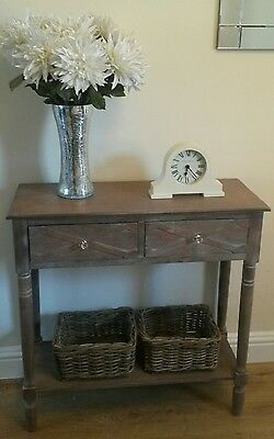 Console hall table with 2 drawers