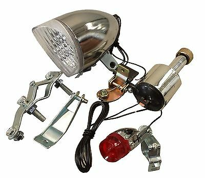 Universal Bicycle Bike Front and Rear Light Set Dynamo Classic Retro Vintage