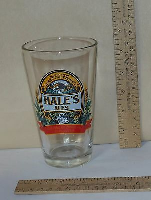 HALE'S ALES - BEER GLASS - Brewed From PUREST MALT & HOPS