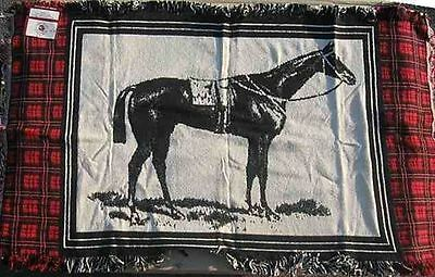 Horse Racing RACEHORSE Woven Fabric Rug Accent Rug CLEARANCE PRICED
