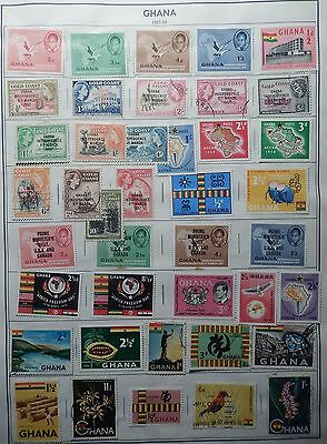 Ghana Collection to 1984 Hinged on 14 Citation Album Pages