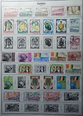 Guinea Collection to 1985 Hinged on 23 Citation Album Pages