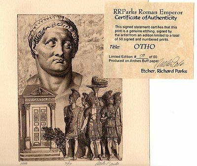 OTHO ROMAN Emperor Limited Edition Etching Limited Ed. Fine Art Print