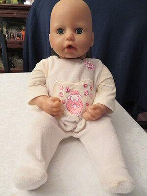 Baby Annabell Doll Interactive - Sighs, Laughs, Drinks Moves Head & Body, Etc.