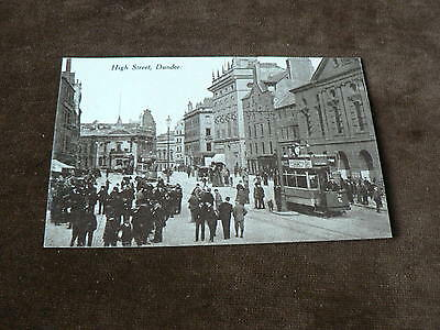 Old Photo Postcard, High Street, Dundee, Tram