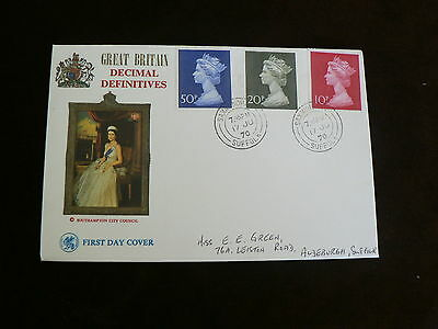 1970 FDC:  High Value  Large Definitives, Queen, Southampton City Council