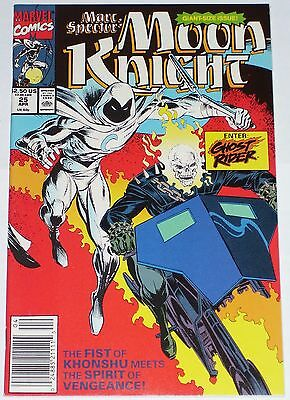 Marc Spector: Moon Knight #25 1991 VF/NM to NM Giant-Size Issue. Ghost Rider
